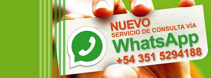 WhatsAppeanos Consultas, inquietudes, dudas, envianos un Wapp! #Biblioteca #UCC #Whatsapp #Contacto