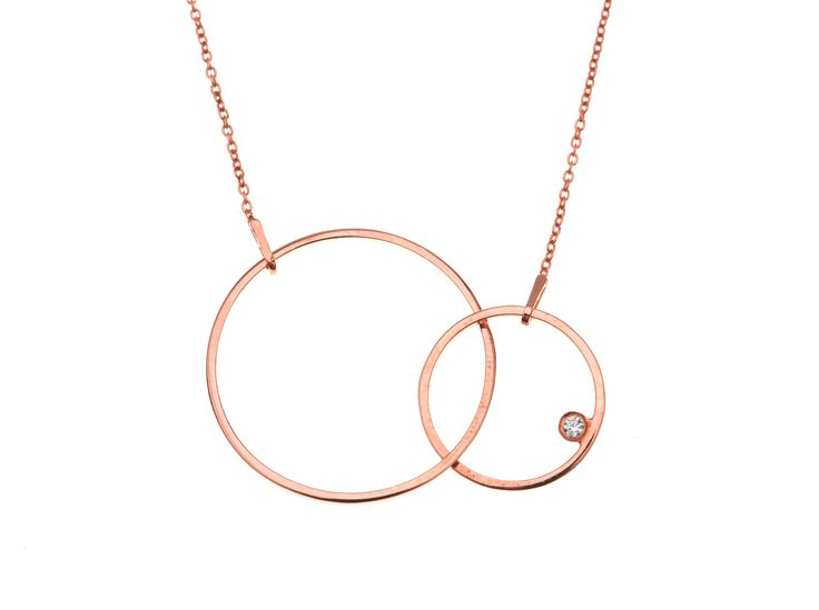 Circle Shape Necklace  | 14k Rose Gold Plated Sterling Silver