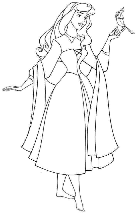 Princess Aurora Sleeping Beauty Coloring Pages