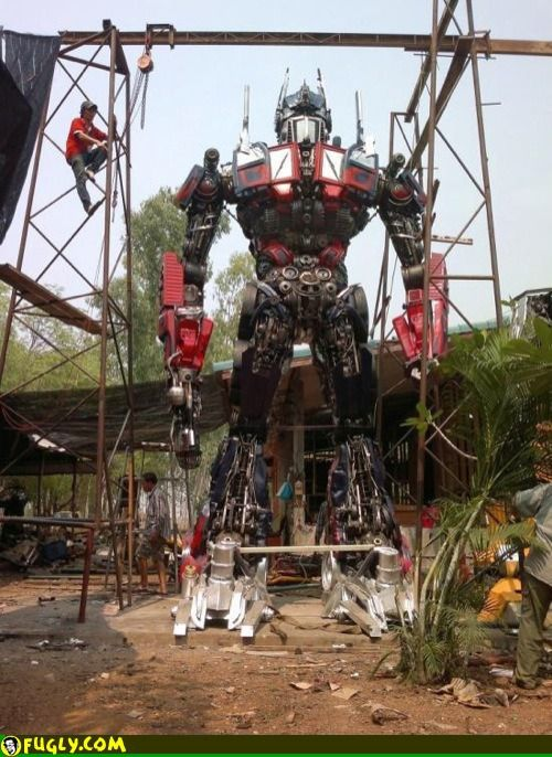 Gas Monkey Garage Has Put Together Optimus Prime From Old Car Parts