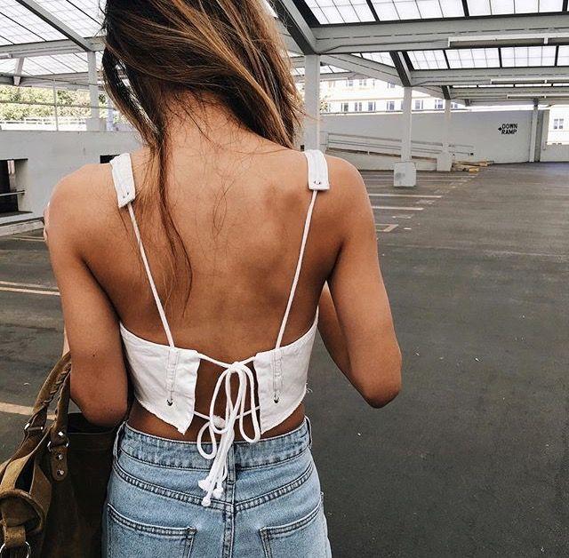 Unique back lace up crop top @diannedarby ★ ★ ★