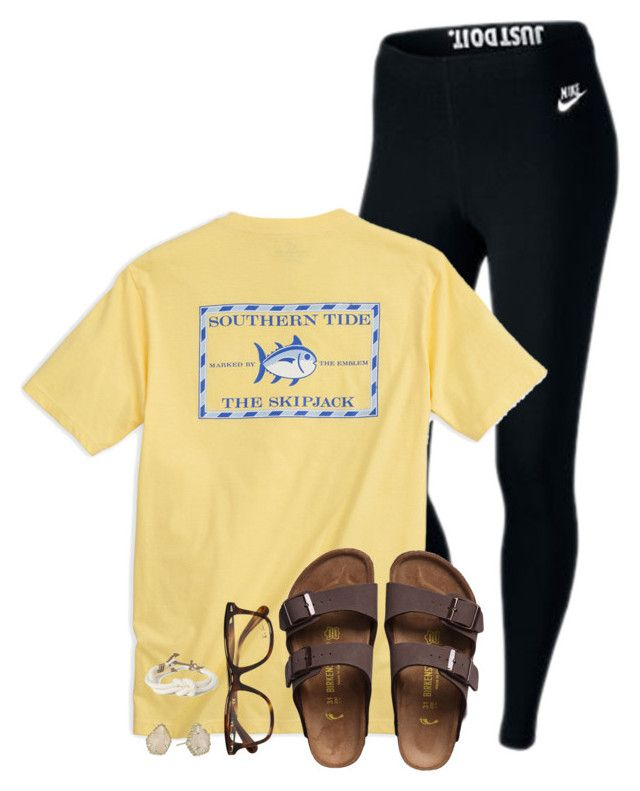 #summer #outfits / Yellow Tee + Black Leggins