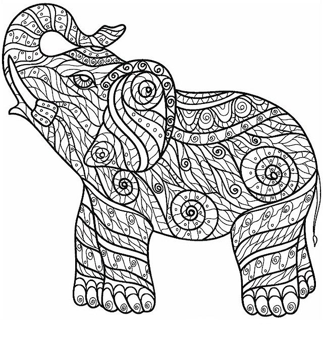 Elephant Coloring Pages For Adults Best Coloring Pages For Kids Elephant Coloring Page Animal Coloring Pages Mandala Coloring Pages