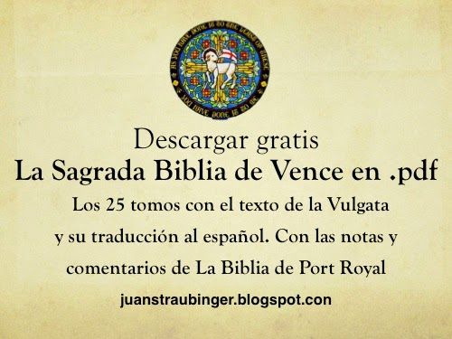 La Biblia en español: Descargar gratis Biblia de Vence en .pdf