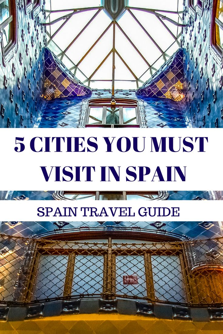 5 CITIES IN SPAIN YOU MUST VISIT! See some of the best places to visit in Spain. Barcelona, Granada, San Sebastian, Madrid, Valencia.
