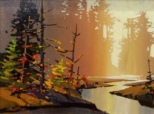 Artist: Michael O'Toole, Title: Golden Light At Long Beach - click on image to enlarge