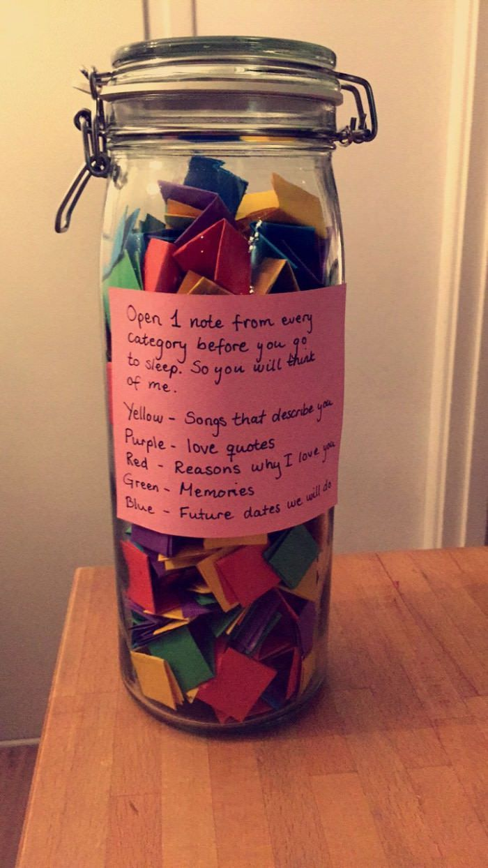 Jar Ideas Cute Birthday Gift Boyfriend Gifts Girlfriend Gifts