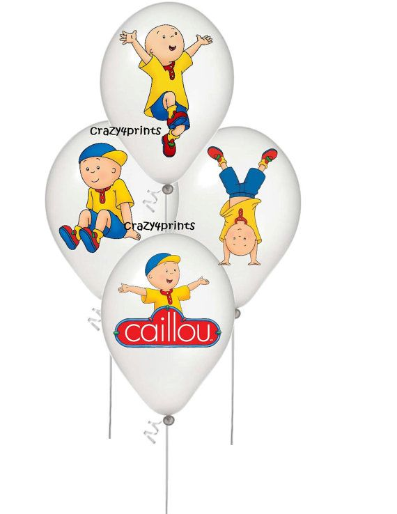 Caillou balloon  stickers party decorations by Crazy4prints