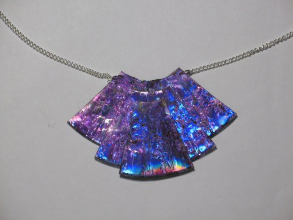 Purple Iridescent Cd Necklace by AmazonCreations on Etsy