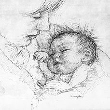 The most wonderful mother & child depiction by Ib Spang Olsen 1921 - 2012