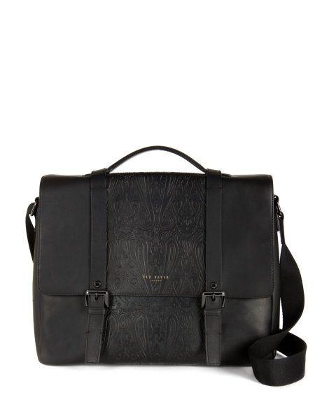 ALLISER - Paisley messenger bag - Black | Men's | Ted Baker ROW
