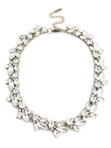 The best-selling Lucy necklace had a makeover! Indulge in a wreath of sparkly gems and brilliant marquise jewels. This gorgeous strand is a classic must-have, w