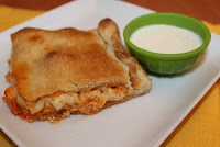 Buffalo Chicken Calzone.  Super Yummy and totally easy: Tasty Creations, Chicken Recipes, Michelle S Tasty, Food, Yummy, Buffalo Chicken