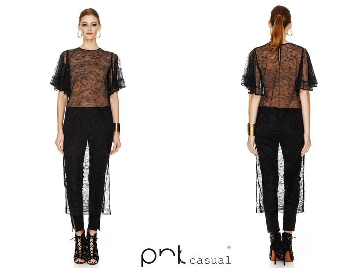 Black Lace Dress by PNK casual #pnkcasual #cool #fashion #happiness