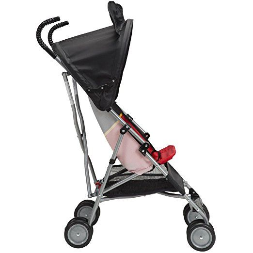 Mouse Umbrella Stroller with Basket Compact size 3D Fold travel Pink Minnie
