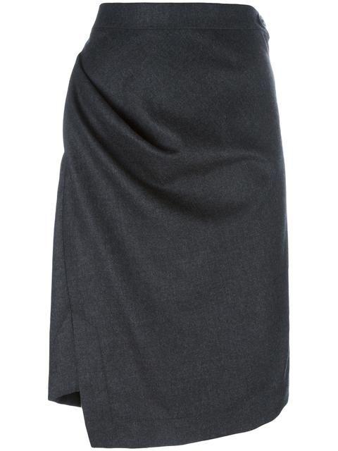 VIVIENNE WESTWOOD ANGLOMANIA asymmetric straight skirt. #viviennewestwoodanglomania #cloth #skirt