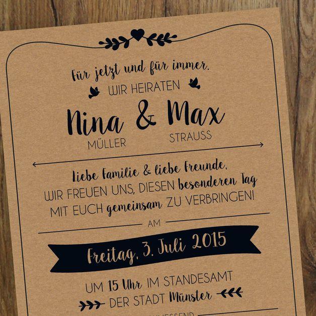 Einladungskarten - Hochzeit | Einladung | Vintage - ein Designerstück von messismine bei DaWanda