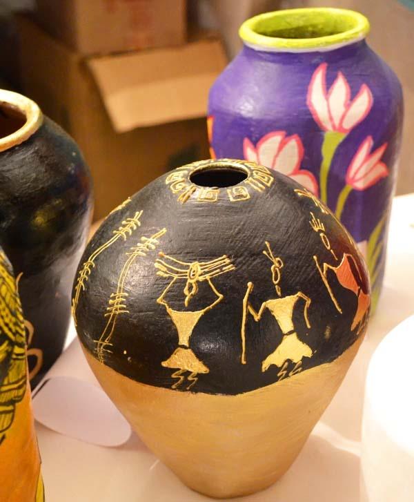 Warli Pot Painting Ideas Traffic Club
