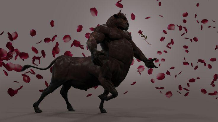 Beauty and the Beast (Speed Sculpt), Ryan-John Keates on ArtStation at https://www.artstation.com/artwork/JDl0a