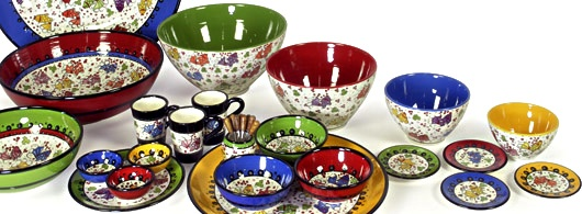 Bowls and Dishes - Nimet - origineel handbeschilderd Turks aardewerk