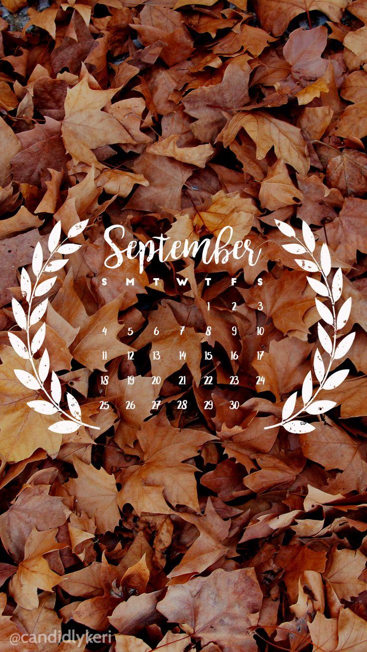 pinterest: @jaidyngrace Fall leaf September calendar 2016 wallpaper you can…