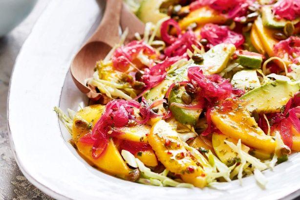 Mango-avocado salad with coriander dressing main image