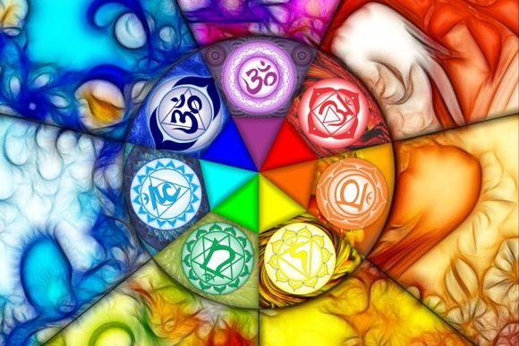 Pôster Chakras - Simbologia: A palavra chakra vem do sânscrito e significa roda ou disco.  Eles são percebidos por clarividentes como vórtices de energia vital, espirais girando em alta velocidade em pontos vitais do corpo. Os Clakras têm funções espirituais, psíquicas e emocionais e são pontos de interseção entre vários planos e através deles nosso corpo etérico se manifesta mais intensamente no corpo físico.  Os sete grandes chakras principais estão...