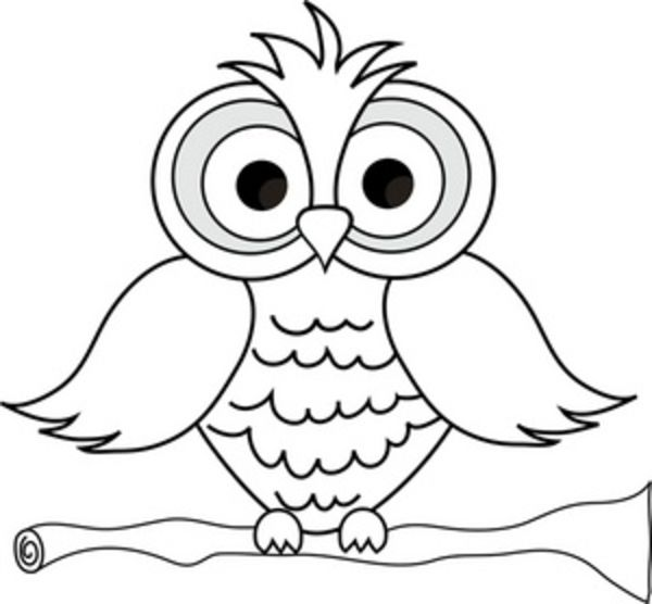 Cute owl coloring pages large feathers pinterest for Cute coloring pages of owls