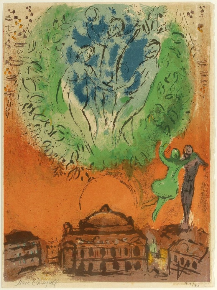 Marc Chagall 1887 Witebsk - 1985 St. Paul de Vence  on auction July 7, 2012