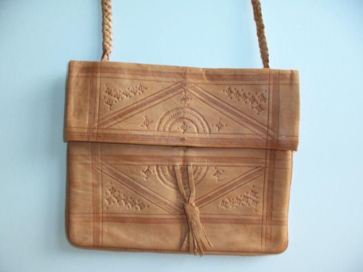 vintage leder bag from the 1970