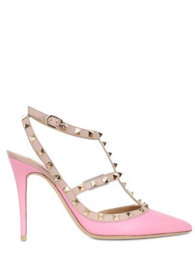 Valentino Studded Heels #valentino #2015 #shoes #heels #studded #luisaviaroma #pink