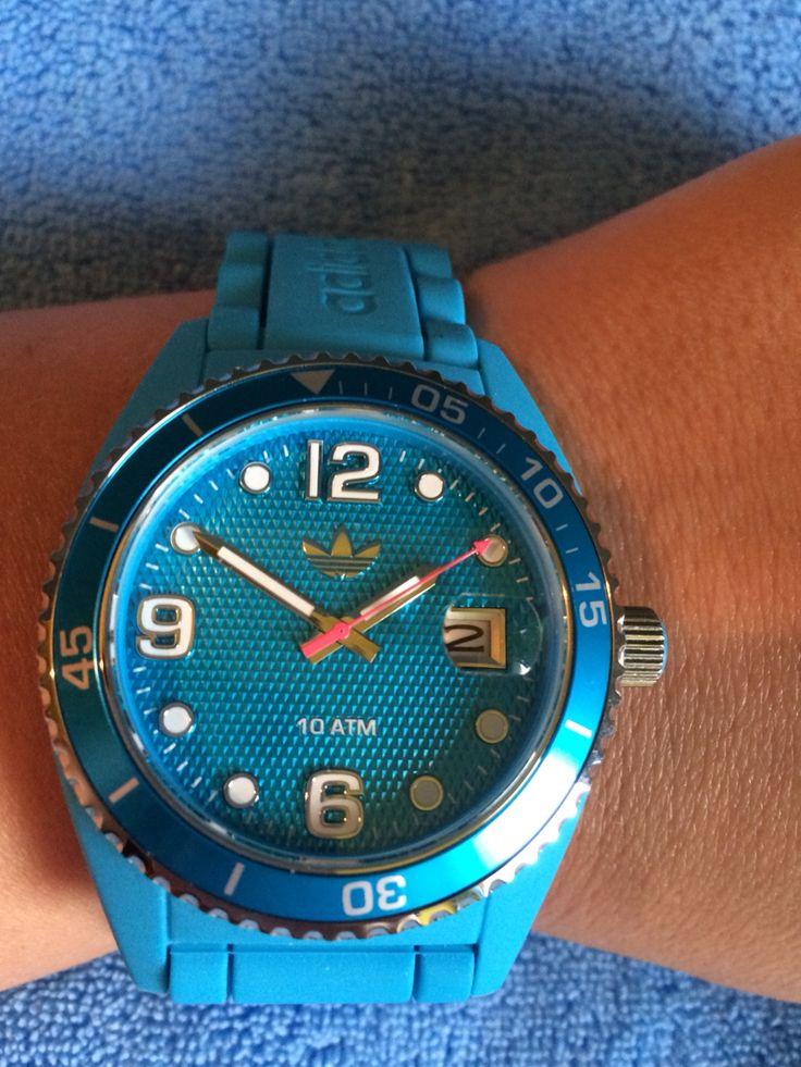 Blue sports Adidas watch