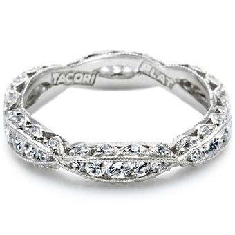 Matching Wedding Band to Tacori engagement ring, cresent style.  (I want one for each side of the engagement ring)