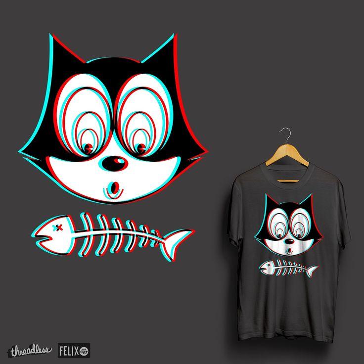 Felix the 3D cat on Threadless
