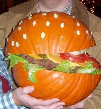 The hamburger pumpkin