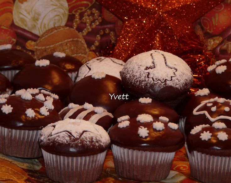 Vánoční perníkové muffiny
