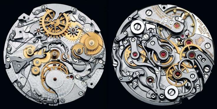 The Internal Mechanism of a Watch by Patek Philippe, Considered the Finest Watchmaker in the World