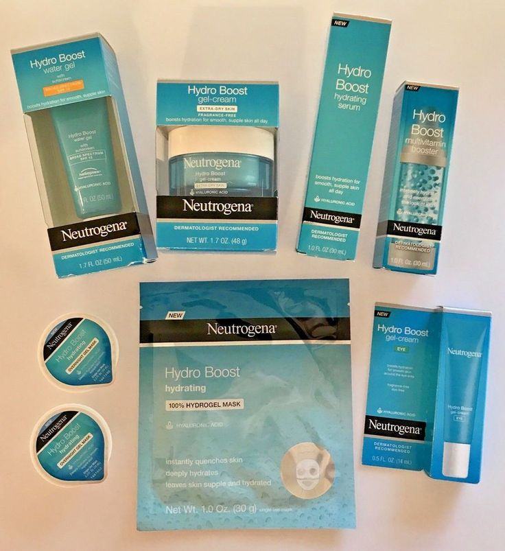 8 Neutrogena Hydro Boost Items 2 Gel Creams, Serum, Eye, Booster + 3 Masks    #Neutrogena