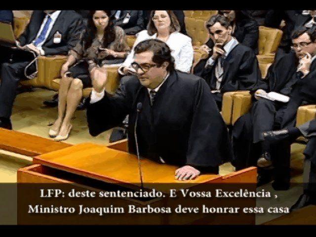 Integra, com legendas, da fala de Luiz Fernando Pacheco na sessão do STF