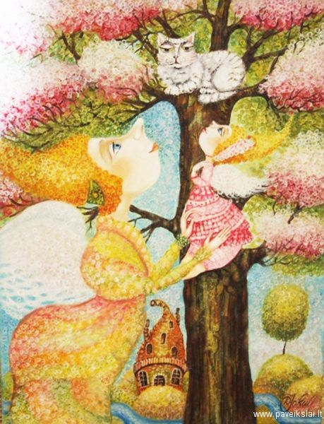 Pinzellades al món: Els àngels il·lustrats per Danguole Jokubaitiene