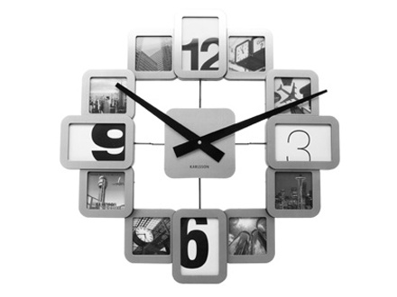 fun clock for the living room - could make a photo project with different numbers, scenes, etc.