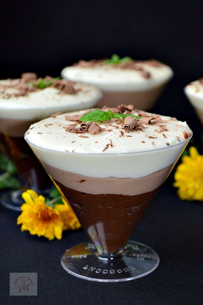 Trio de ciocolata la pahar, un desert decadent demn de mesele festive si nu numai!