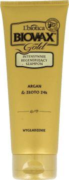 Biovax, Glamour, Argan & Złoto 24 k, Intensywnie regenerujący szampon do włosów, wygładzający, 200 ml, nr kat. 225506