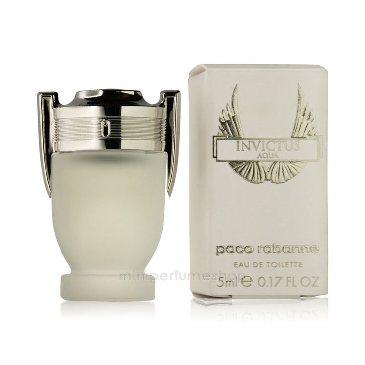 Mini perfume Paco Rabanne Invictus aqua Edt 5 ml. 0.17 oz New!!