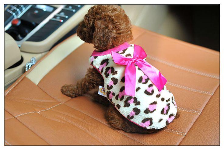 Frete grátis cat clothes velo casaco para cães inverno roupas leopardo gato para filhote de cachorro chihuahua cão roupas baratas em Casacos e Jaquetas para Cachorros de Home & Garden no AliExpress.com   Alibaba Group