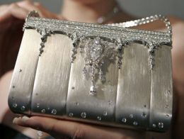 Top Ten Most Expensive Bags and Purses in the World 2. The Hermes Birkin bag created by Japanese designer Ginza Tanaka - $1,900,000  It is made of platinum and has over 2,000 diamonds. It is also versatile, so that in addition to being a handbag you can also use the diamond strap as a necklace or bracelet by removing it from the bag. The bag itself has an 8-carat pear shaped shimmering diamond that can also be used separately