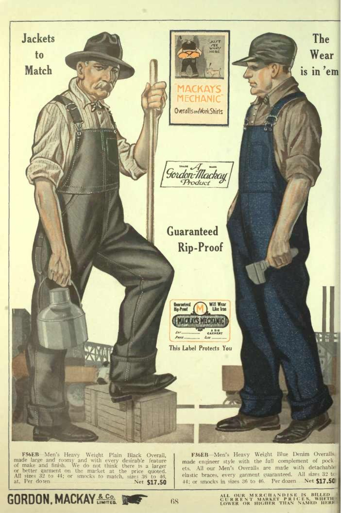 1920s mens workwear overalls