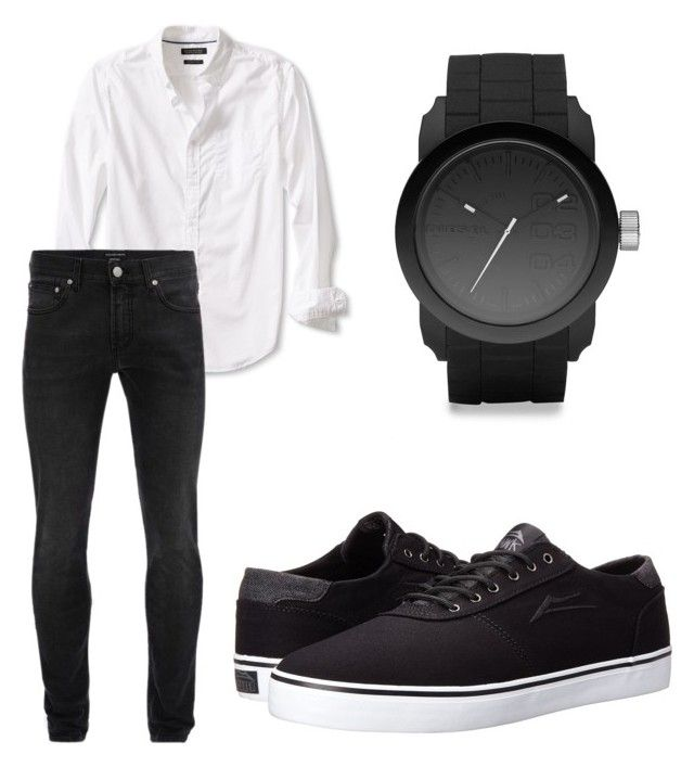 """""""blue"""" by oliviasjstad on Polyvore featuring Banana Republic, Alexander McQueen, Lakai, Diesel, men's fashion and menswear"""
