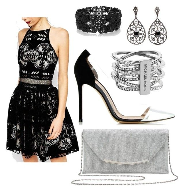 """Cocktail party / special occasion"" by taniamin on Polyvore featuring ASOS, Gianvito Rossi, M&Co, Oasis, Michael Kors, Elegant, cocktail, cocktaildress, funandflirty and Specialoccasion"