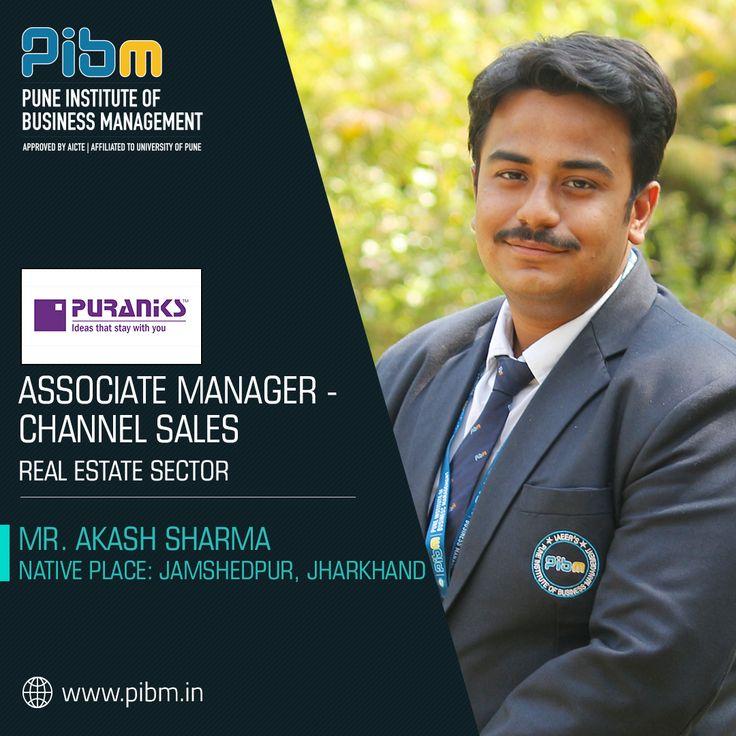 PIBM Family Wishing Mr. Akash Sharma a successful career